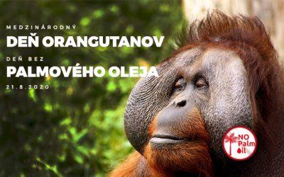 Deň orangutanov a deň bez palmového oleja
